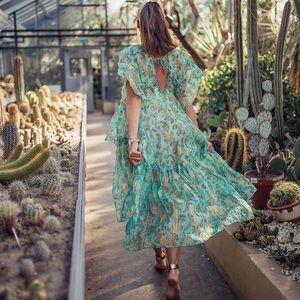 NWT H&M Consc Exclusive Lyocell-Blend Kaftan Dress